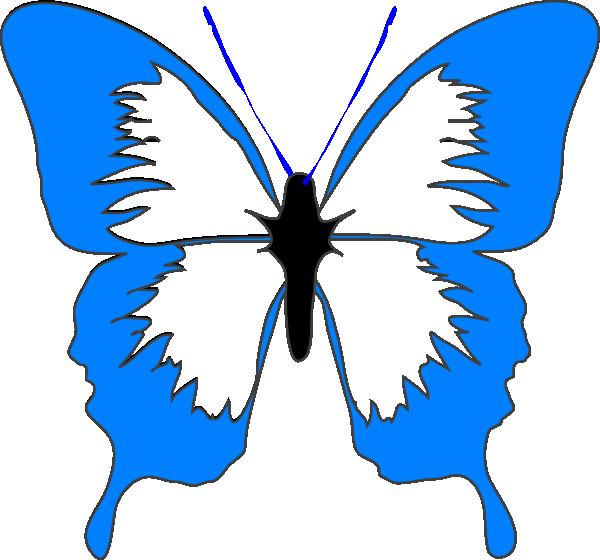 Blue Butterfly Clip Art At Clker Com Vector Clip Art Online
