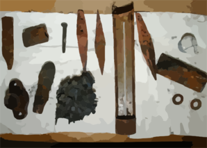 Artifacts Recovered From The Uss Monitor. Clip Art