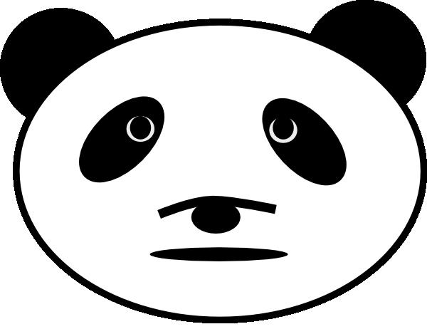 Panda Cartoon Face - photo#14