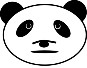 Sad Panda Bear Clip Art