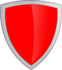 Red Security Shield Clip Art