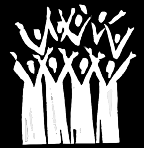 Choir In Black And White Clip Art