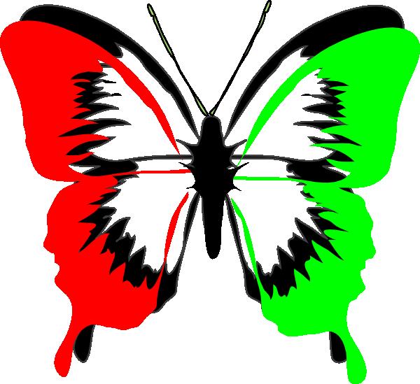Rbg Butterfly Clip Art At Clker Com Vector Clip Art Online Royalty Free Public Domain