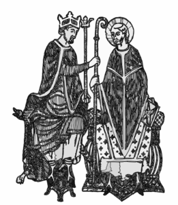 Medieval King And Bishop Clip Art