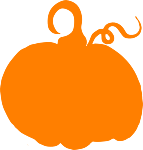 Orange Pumpkin Sihouette Clip Art