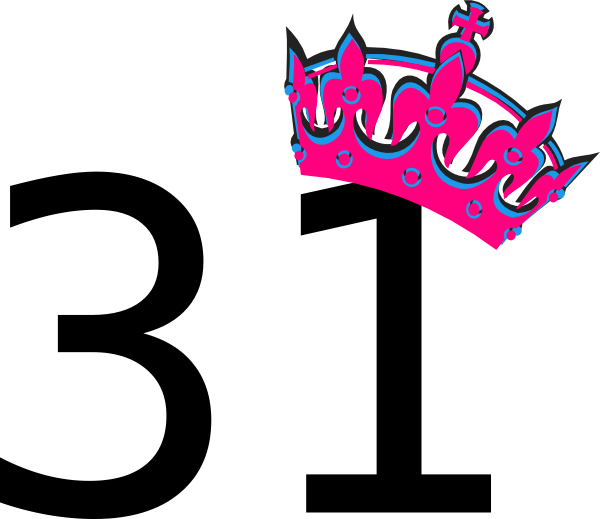 Pink Tilted Tiara And Number 31 Clip Art at Clker.com - vector clip ...
