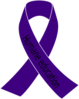 Purple Awareness Ribbon Clip Art