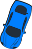 Blue Car - Top View - 250 Clip Art