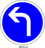 Left Turn Only Clip Art