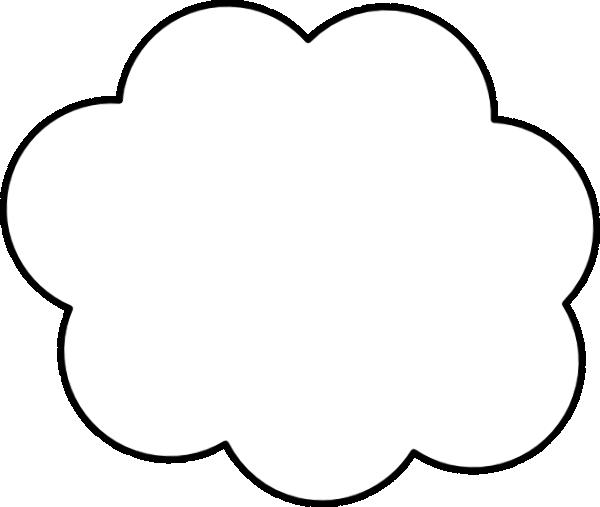 Cartoon-cloud Clip Art at Clker.com - vector clip art ...