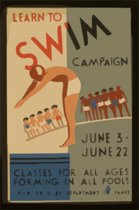 Learn To Swim Campaign Classes For All Ages Forming In All Pools / Wagner. Clip Art