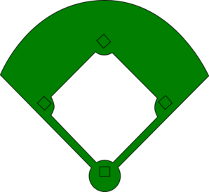 Green Baseball Field Clip Art
