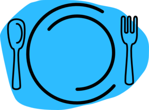Blue Plate Cartoon Clip Art