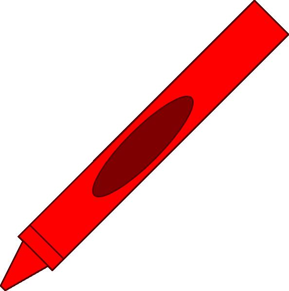 Red Crayon Clipart Crayon clip art - vector clip