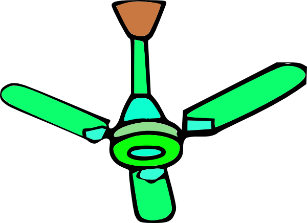 green ceiling fan clip art at clker com vector clip art online rh clker com  ceiling fan clipart