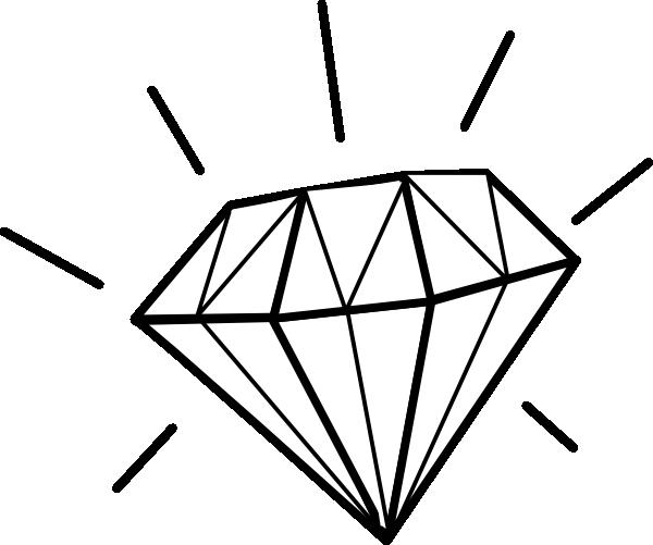 White Diamond Clip Art at Clker.com - vector clip art ...