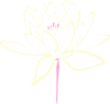 Pink Cream Lotus Clip Art