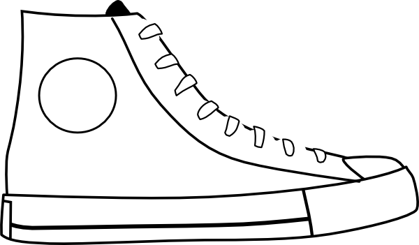 Converse Tennis Shoes Coloring Pages Submited Images