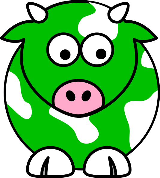 Green Cow Clip Art at Clker.com - vector clip art online, royalty free ...