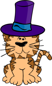 Cat In A Hat Clip Art at Clker.com - vector clip art online ...