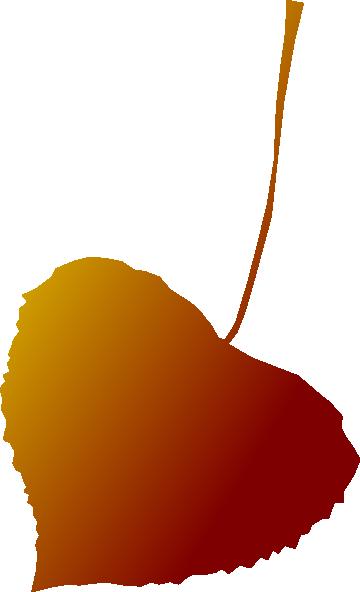 Autumn Leaf Red Clip A...