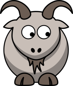 Goat Looking Right-down Clip Art