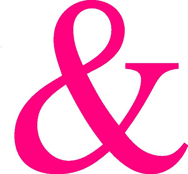 Hot Pink Ampersand Clip Art at Clker.com - vector clip art online ...