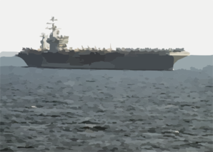 The Aircraft Carrier Uss Nimitz (cvn 68) Enters The Arabian Gulf To Relieve Uss Abraham Lincoln (cvn 72). Clip Art