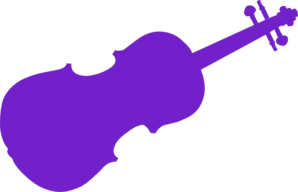 Purple Violin Clip Art