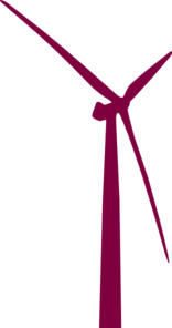 Wind Power Maroon Clip Art