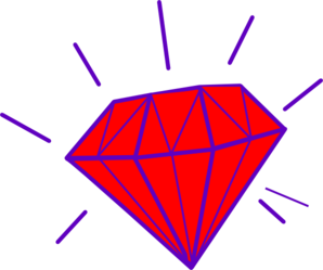 Red Gem Clip Art at Clker.com - vector clip art online, royalty free ...