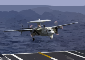 E-2c Makes Arrested Landing Clip Art