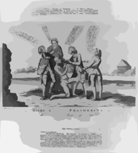 tarring and feathering the reward of the enemies of ireland america invent hibernia fecit md