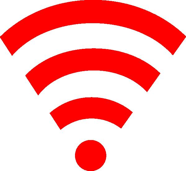 Red Wifi Link Clip Art at Clker.com - vector clip art ...