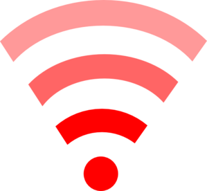 Red Wifi Link Clip Art