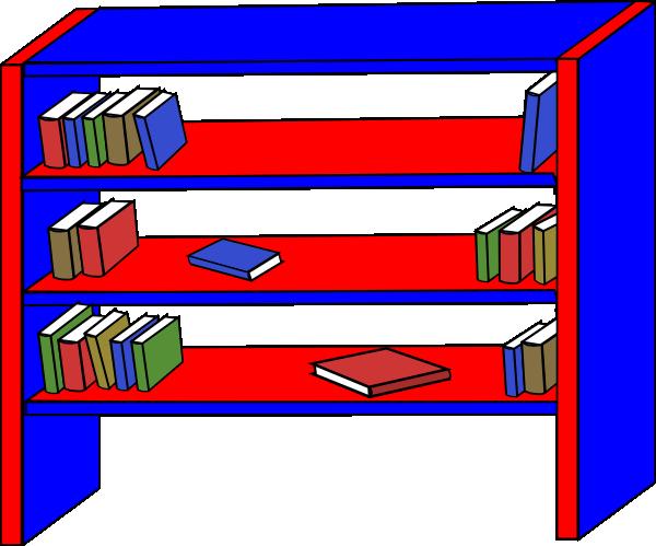 bookshelf clip art at clker com vector clip art online royalty rh clker com bookshelf clipart free bookshelf with books clipart
