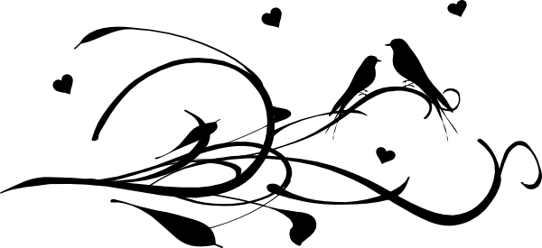 Image Gallery love birds outline