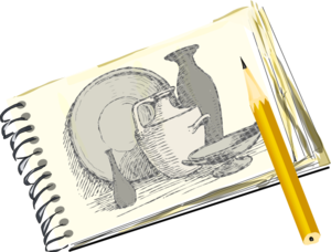 Sketchpad With Still Life Clip Art