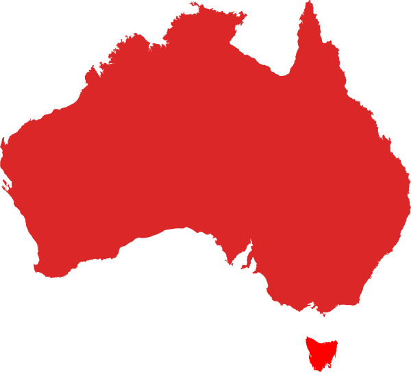 Australia Map Clipart.Australia Map Red Clip Art At Clker Com Vector Clip Art Online