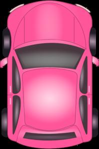 Pink Car Top View Clip Art At Clker Com Vector Clip Art