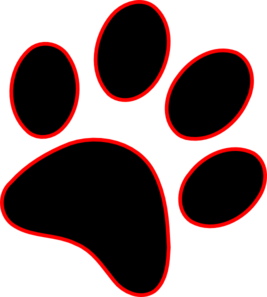 paw print clip art at clker com vector clip art online royalty rh clker com paw print clip art transparent background paw print clip art black and white