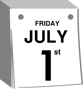July 1 St Calendar Clip Art