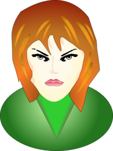 Angry Female Face Clip Art