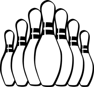 bowling pins clip art at clker com vector clip art online royalty rh clker com bowling clipart images lawn bowling pictures clip art