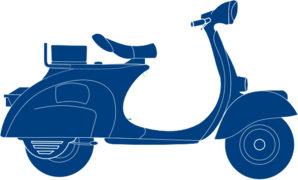Dark Blue Scooter Clip Art