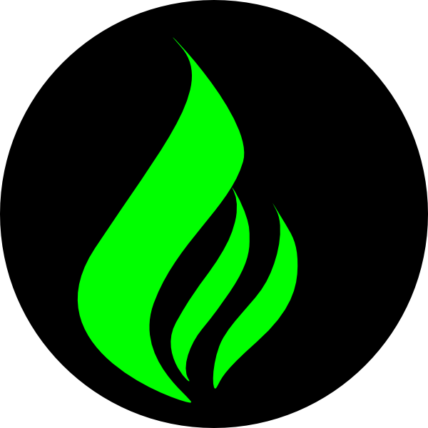 Green Flame Black Clip Art at Clker.com - vector clip art ...