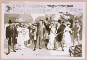 Barney Gilmore In The Great Comedy Drama, Kidnapped In New York By Howard Hall. Clip Art