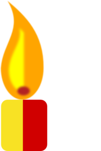 Yellow Candle Clip Art