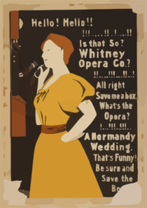 Hello! Hello! Is That So? Whitney Opera Co.? All Right Save Me A Box. What S The Opera? A Normandy Wedding. That S Funny! Be Sure And Save The Box Clip Art