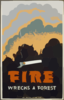 Fire Wrecks A Forest Clip Art